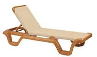 Marina Sling Chaise on Teakwood Frame