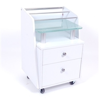 Accessory Cart w/ Glass Top