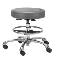 Chrome Pneumatic Stool
