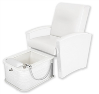 Living Earth Crafts Mystia Pedicure Chair with Plumbed Footbath