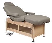 Oakworks Clinician Manual Hydraulic Lift w/ List-Assist Salon Top & Cabinet Base