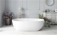 Aquatica Corelia White Freestanding Solid Surface Bathtub