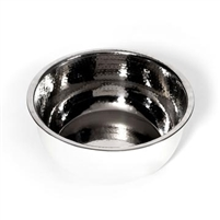 Hammered Stainless Steel Pedicure Bowl w/ Powder Coated Exterior
