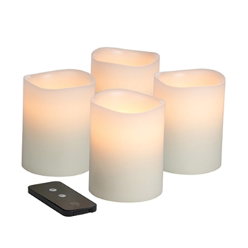 Hollowick Flameless Lighting Real Wax Candles with Timer and Remote