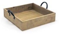 "Asheville Series - 9.75"" Square Rustic Wood Box"