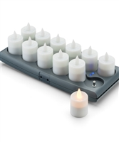 Hollowick v12 Series Rechargeable Tea Lights - 12 Pack