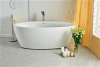 Aquatica Sensuality White Freestanding Solid Surface Tub