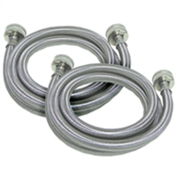5 Ft. (SET OF 2) Stainless Steel  Fill Inlet Hose for Whirlpool, Kenmore , Maytag Washer