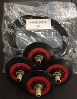 4 Pack Roller Wheels 4581EL2002A And Belt 4400EL2001A Kit For LG Dryer