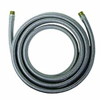 Stainless Steel Icemaker Supply Line, 12 Foot