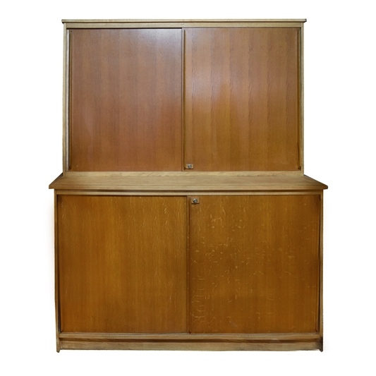 French Mid-Century Two-Tier Wood Cabinet