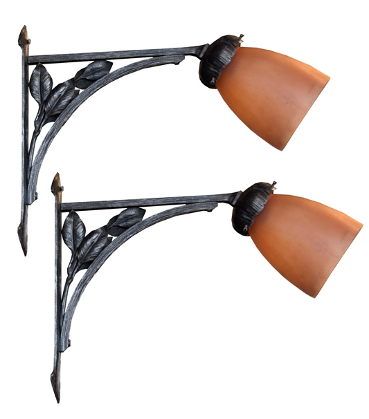 Pair of Fer Forge Sconces