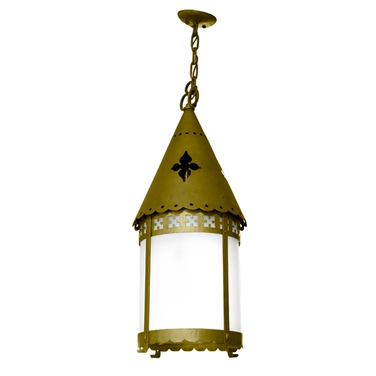 Early 20th Century Argentine Brass Pendant Light Fixture