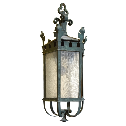 Early 20th Century Argentine Bronze Light Fixture