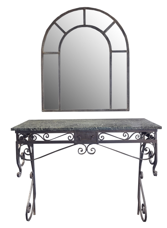 Wrought Iron Console from the Florsheim Estate, Highland Park, IL