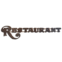 French 'Restaurant' Sign