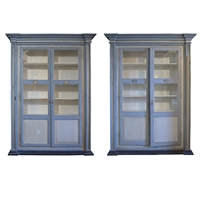 Pair of Italian Two Door Cabinets