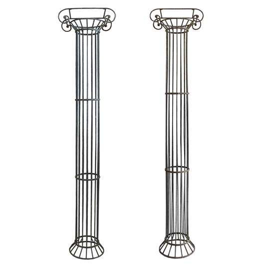 Pair of French Wrought Iron Columns