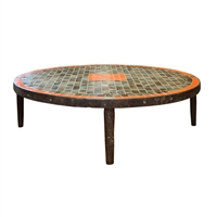 French Mid-Century Tile Coffee Table