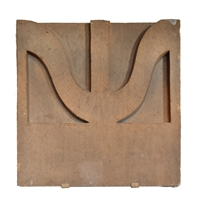 Sullivan Designed Terra Cotta Facade Fragment from the St. Nicholas Hotel