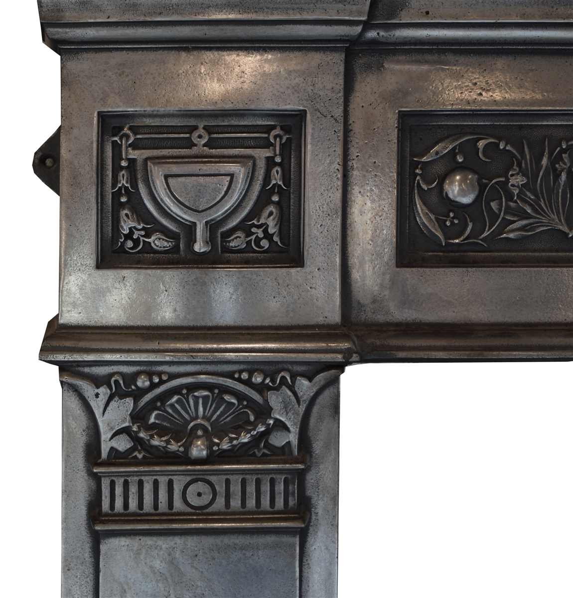 English Cast Iron Fireplace Mantel