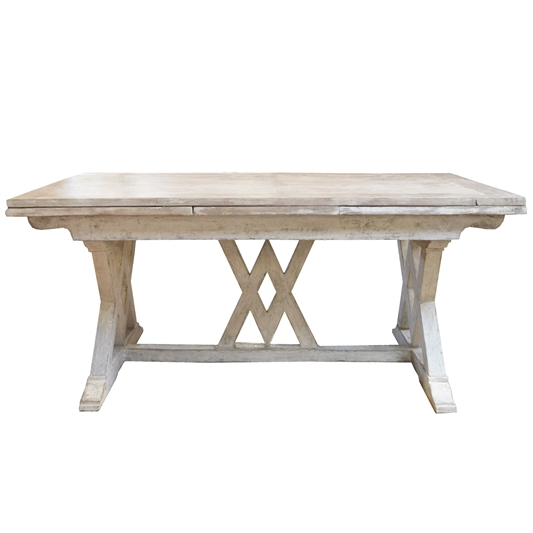 Italian Trestle Table with Extensions