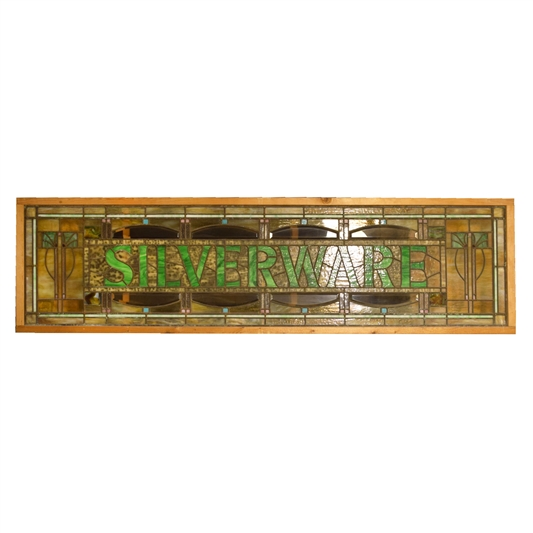 """SILVERWARE"" Stained Glass Panel"