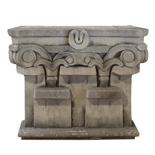 Limestone Pilaster Capital from the Chicago Mercantile Exchange Building