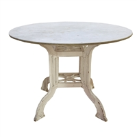 Marble and Iron Cafe Table