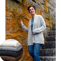 LS608 Lattice Cable Cardigan