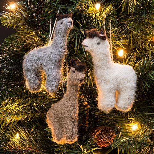 Backorder 1201 RF530A Fuzzy Alpaca Ornament