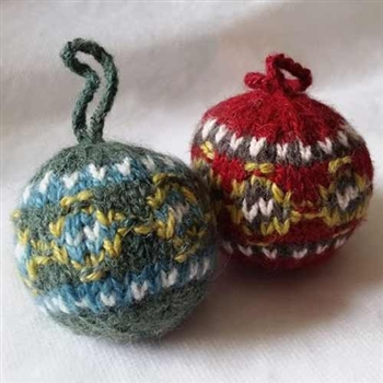 CLEARANCE! RF580 Heritage Knits Fair Isle Ball Ornament