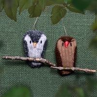 RF585 Fuzzy Owl Ornament