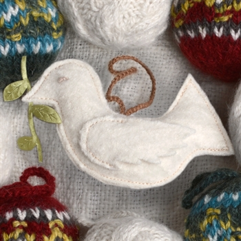RF590 Felt Peace Dove Ornament