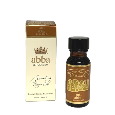 Frankincense & Myrrh Anointing Oil - 1/2oz Pray for the Peace of Jerusalem