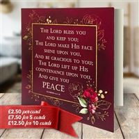 """The Blessing"" Greetings Card Numbers 6:24-26"