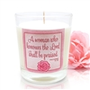 GLIMMER OF HOPE Scripture Candle - Rose