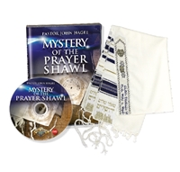 Mystery of the Prayer Shawl Sermon & Dark Blue Prayer Shawl (Pastor John Hagee)