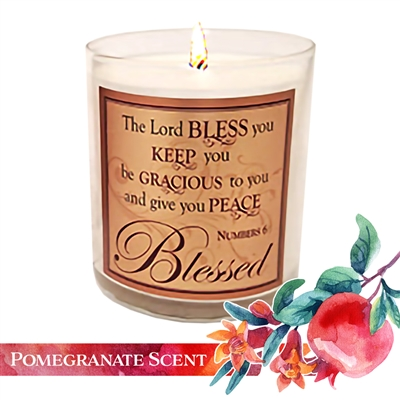 "ABBA Pomegranate ""The Blessing"" Scripture Candle"