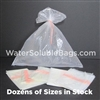 clear water soluble bag