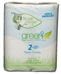 TrueGreen2 PAPER TOWELS 2 ROLLS 65 sht 2 packs case of 24