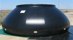 example of 10,000 gallon storage flexible bag tank