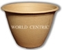 World Centric Compostable 16 oz Fiber Soup Bowls 500/Case