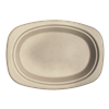 "World Centric Compostable 9"" Fiber Oval Plates  1000/Case"
