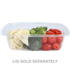 World Centric Biodegradable & Compostable 24 oz Clear Rectangle Deli Case of 600