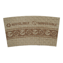 World Centric Biodegradable & Compostable 10-20 oz 100% PCW Paper Sleeves Case of 1000