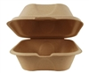 World Centric Compostable 6x6x3 Fiber Take Out Containers (Burger Box) 500/Case