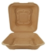 World Centric Compostable 8x8.5x2.8 Fiber Take Out Containers - Single Compt  300/Case