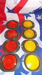 M35A2 Red and Yellow Reflector 8 Piece Set MS35387-1 MS35387-2