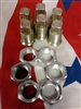M35A2 2.5 ton Right Side Rear Outer & Inner Lug Nuts will do 1 set of duels